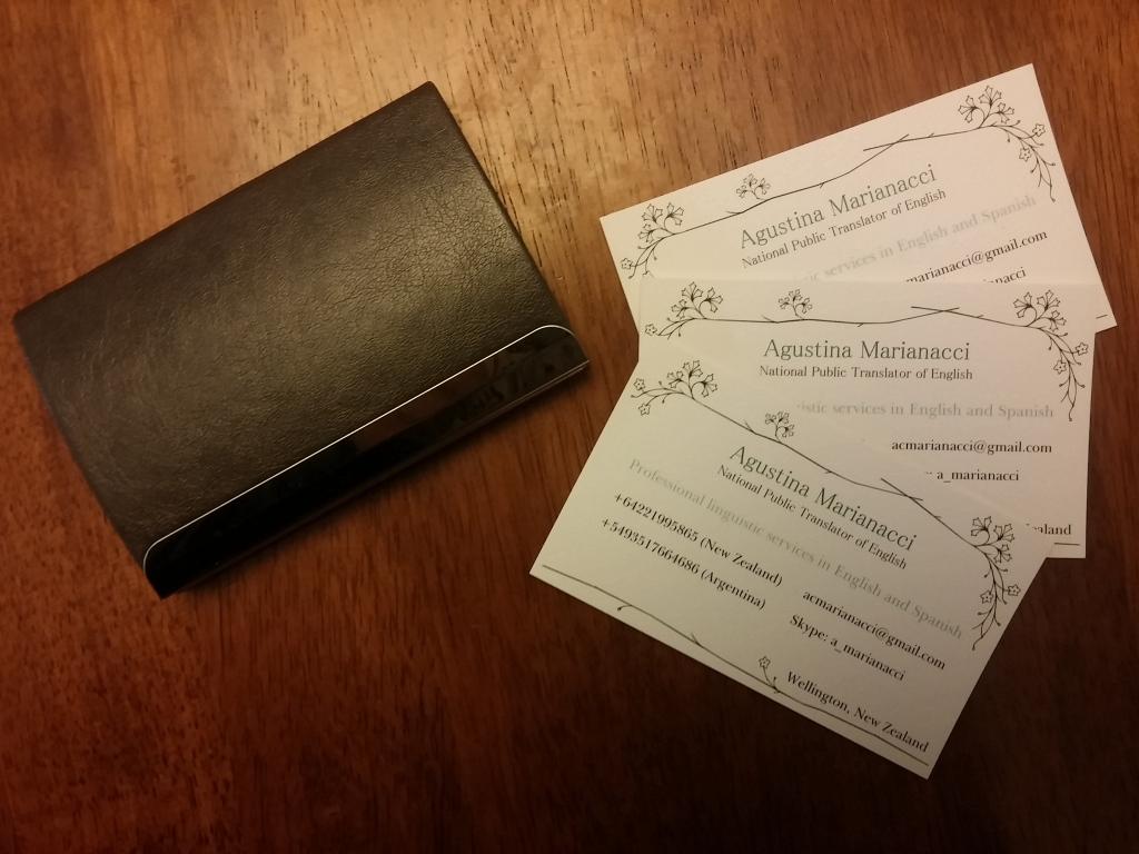 Agustina Marianacci: Business Cards