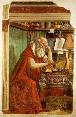 Saint Jerome in his Study by Domenico Ghirlandaio