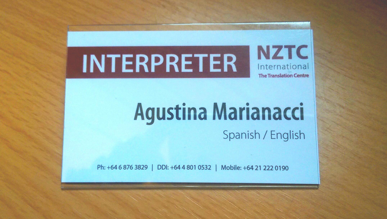 Interpreter Agustina Marianacci