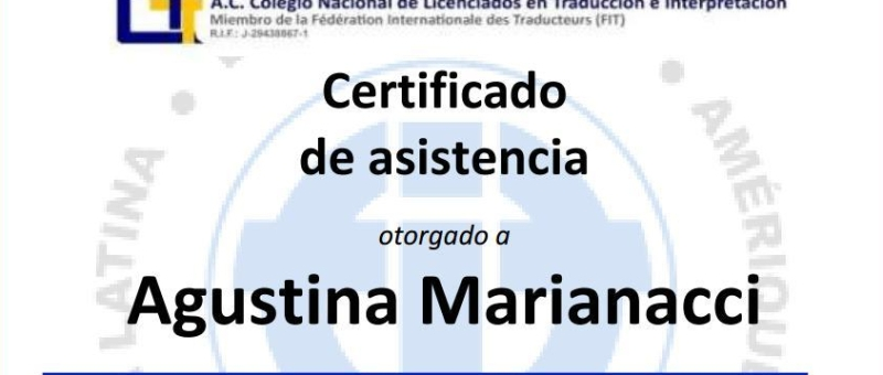 Agustina Marianacci: Quality and Terminology Management Standards